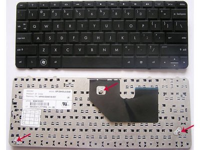 Hp Mini 110-3000 Compaq Presario CQ10 Series Black Laptop Keyboard