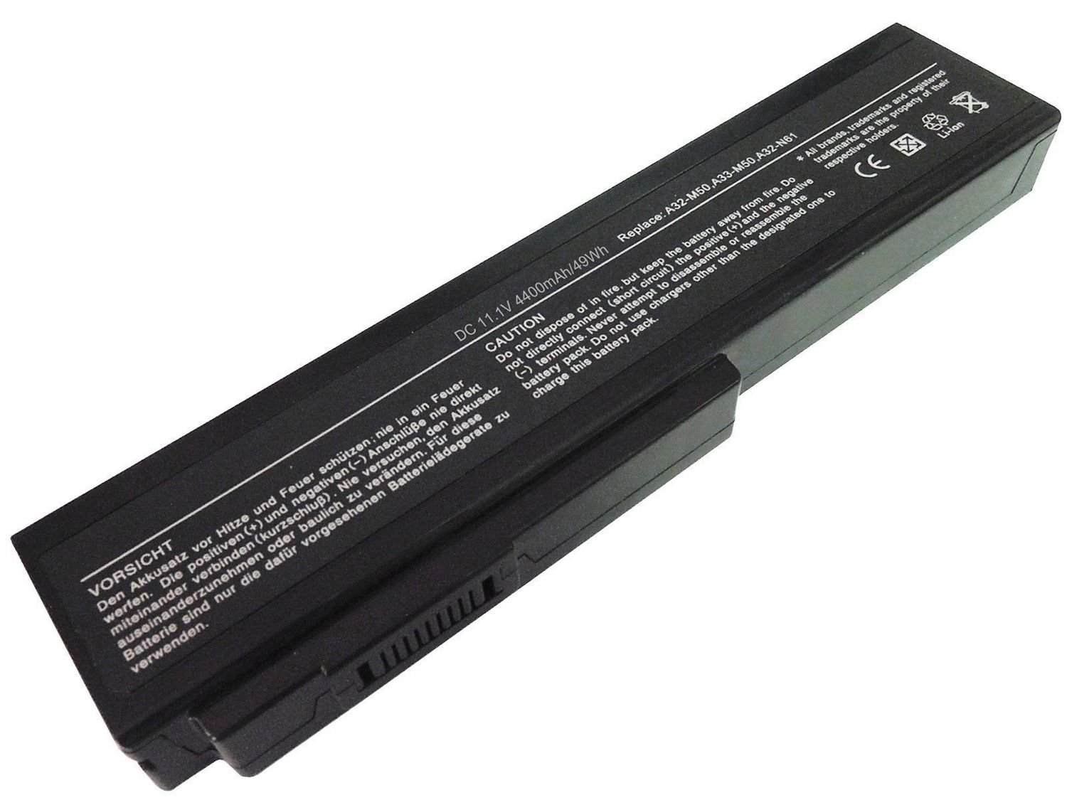 Asus G50 G51 G60 M50 N43 Vx5 X55 X64 N61 N43 L50 compatible laptop battery