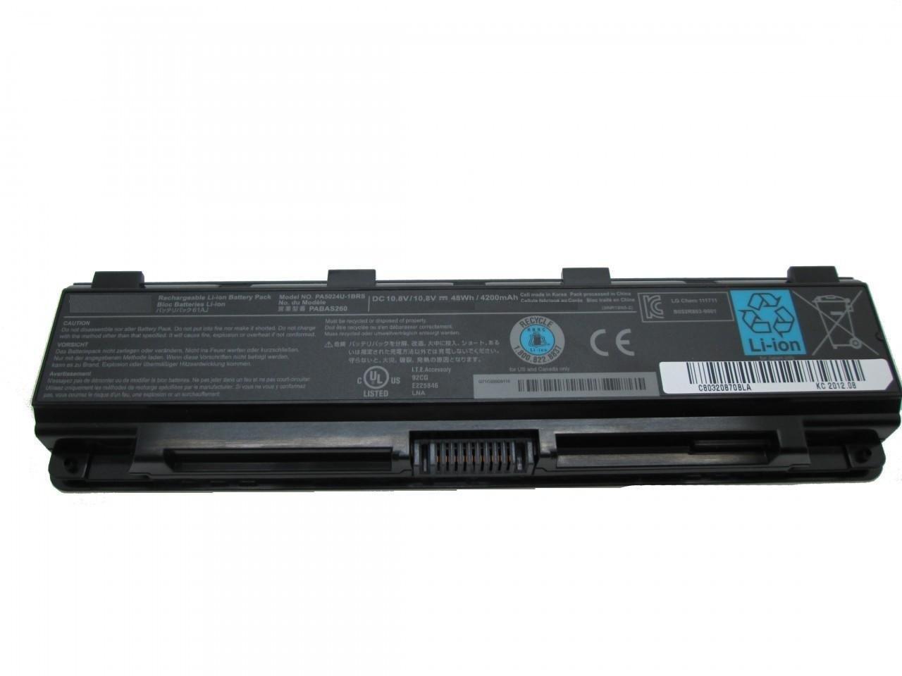 Toshiba S75t S850 S855 S855D S870 S875 S875D compatible laptop battery