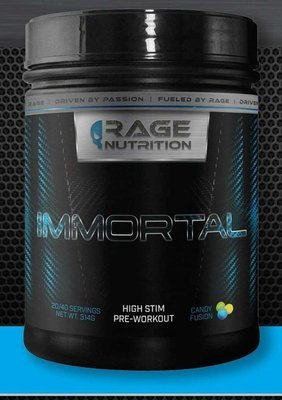 RAGE NUTRITION - IMMORTAL  (POWERFUL PRE-WORKOUT) (formerly FORMULA X)