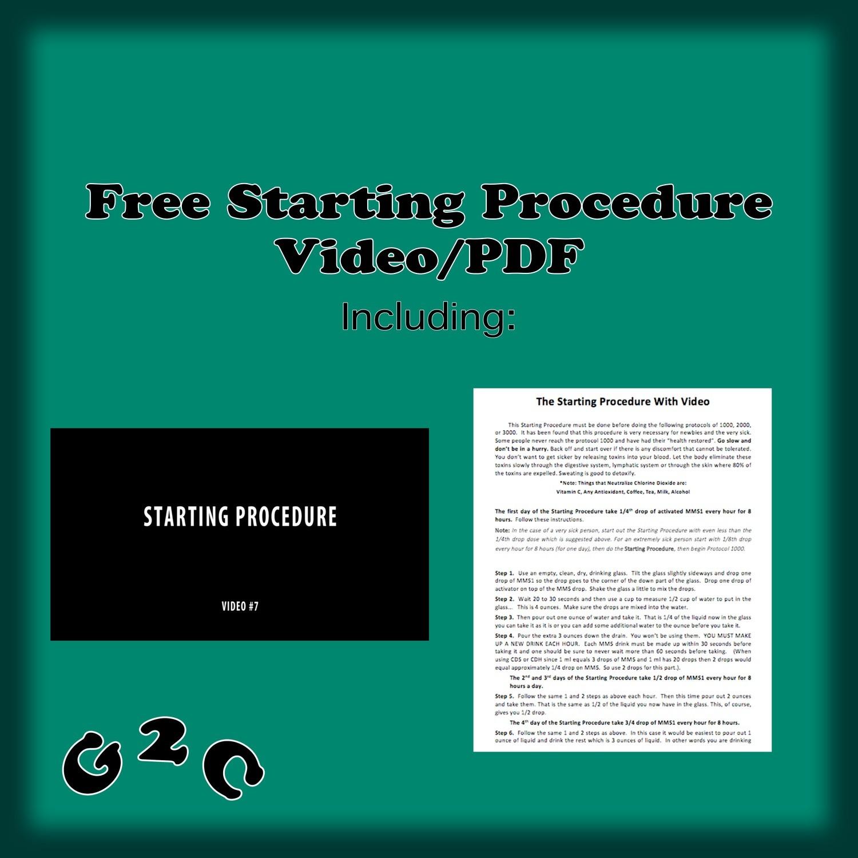 Starting Procedure - Video/PDF
