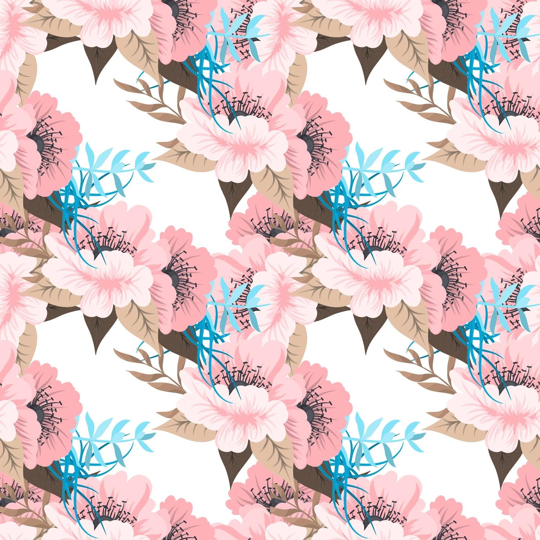 [設計圖樣] 春天 花草 潮流 Trendy Floral Pattern