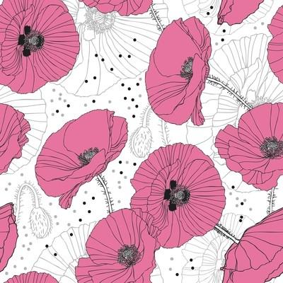 [設計圖樣] 春天 粉紅 罂粟 時尚 Delicate Pink Poppies