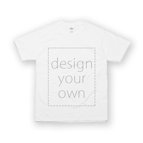 客製 局部 印花 白色 純棉 中性 T恤 White Cotton Neutral T-shirt