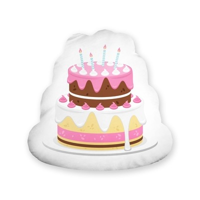 [設計圖樣] 生日 蛋糕 形狀 抱枕 Birthday cake shape pillow