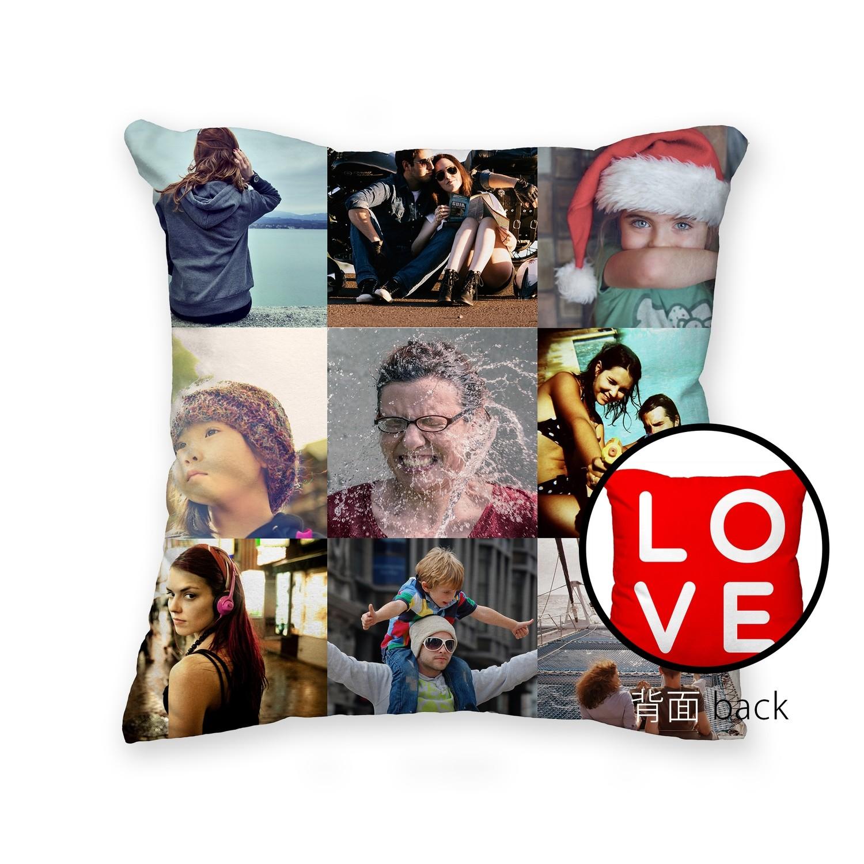 [設計圖樣] LOVE 九宮格 拼貼 方形 抱枕 3*3 Photo Collage Square Pillow