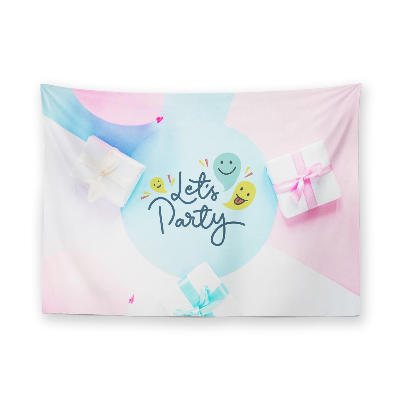 [設計圖樣] 禮物 派對 掛幔 Gift Party Tapestry