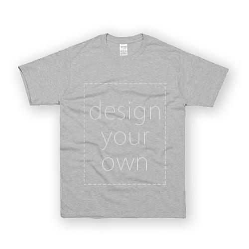 客製 局部 印花 運動灰 中性 T恤 Black Cotton Neutral T-shirt