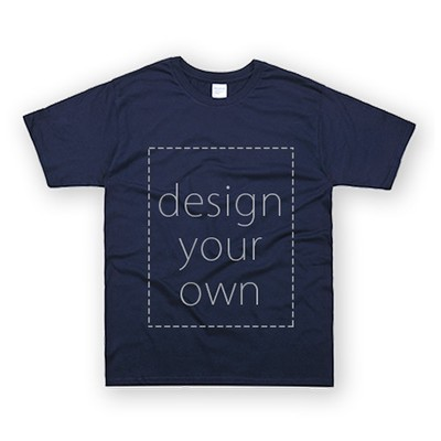 客製 局部 印花 藏青 純棉 中性 T恤 Black Cotton Neutral T-shirt