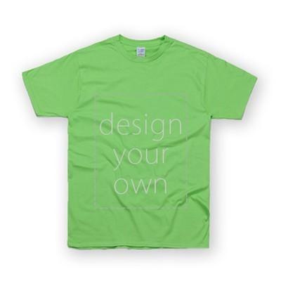 客製 局部 印花 果綠 純棉 中性 T恤 Black Cotton Neutral T-shirt