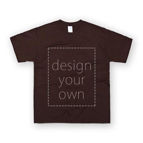 客製 局部 印花 棗紅 純棉 中性 T恤 Black Cotton Neutral T-shirt