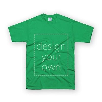 客製 局部 印花 愛爾蘭綠 純棉 中性 T恤 Black Cotton Neutral T-shirt