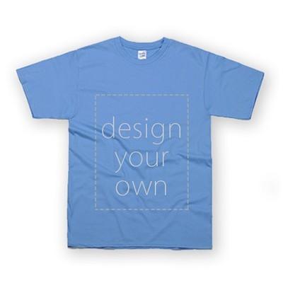客製 局部 印花 卡羅萊納藍 純棉 中性 T恤 Black Cotton Neutral T-shirt