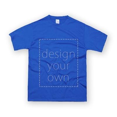 客製 局部 印花 寶藍 純棉 中性 T恤 Black Cotton Neutral T-shirt