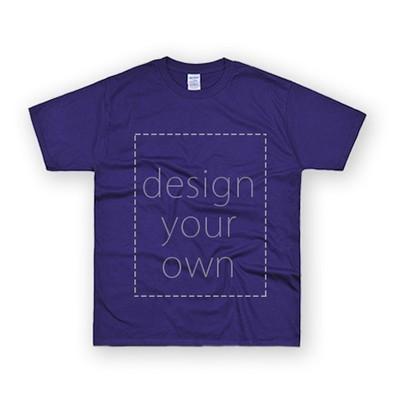 客製 局部 印花 紫色 純棉 中性 T恤 Black Cotton Neutral T-shirt