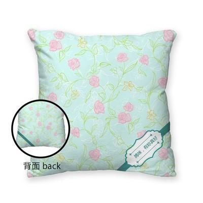 [設計圖樣] 玫瑰 緞帶 方形 抱枕 Rose Ribbon Square Pillow