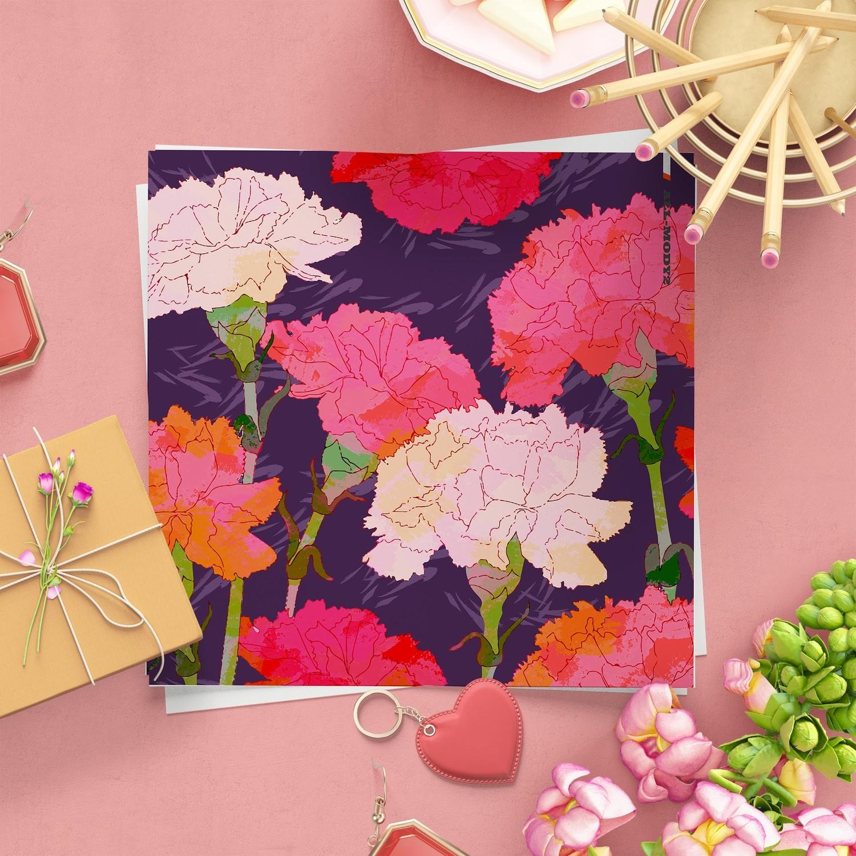 [設計圖樣][紫色典雅康乃馨] 素材 全品項 適用