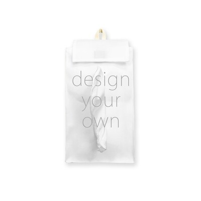 客製 滿版 印花 掛式 帶蓋 面紙套 紙巾袋 Hanging tissue cover