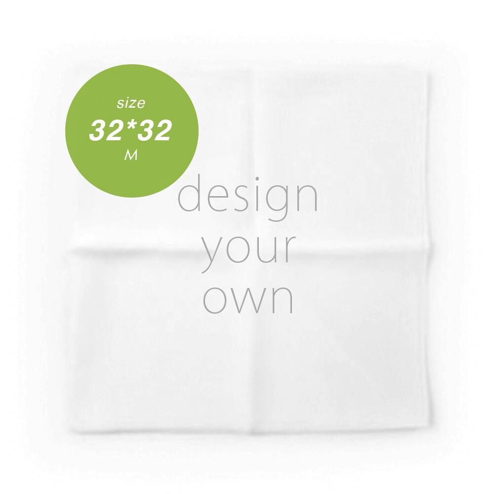 客製 滿版 印花 手帕 32*32 Handkerchief