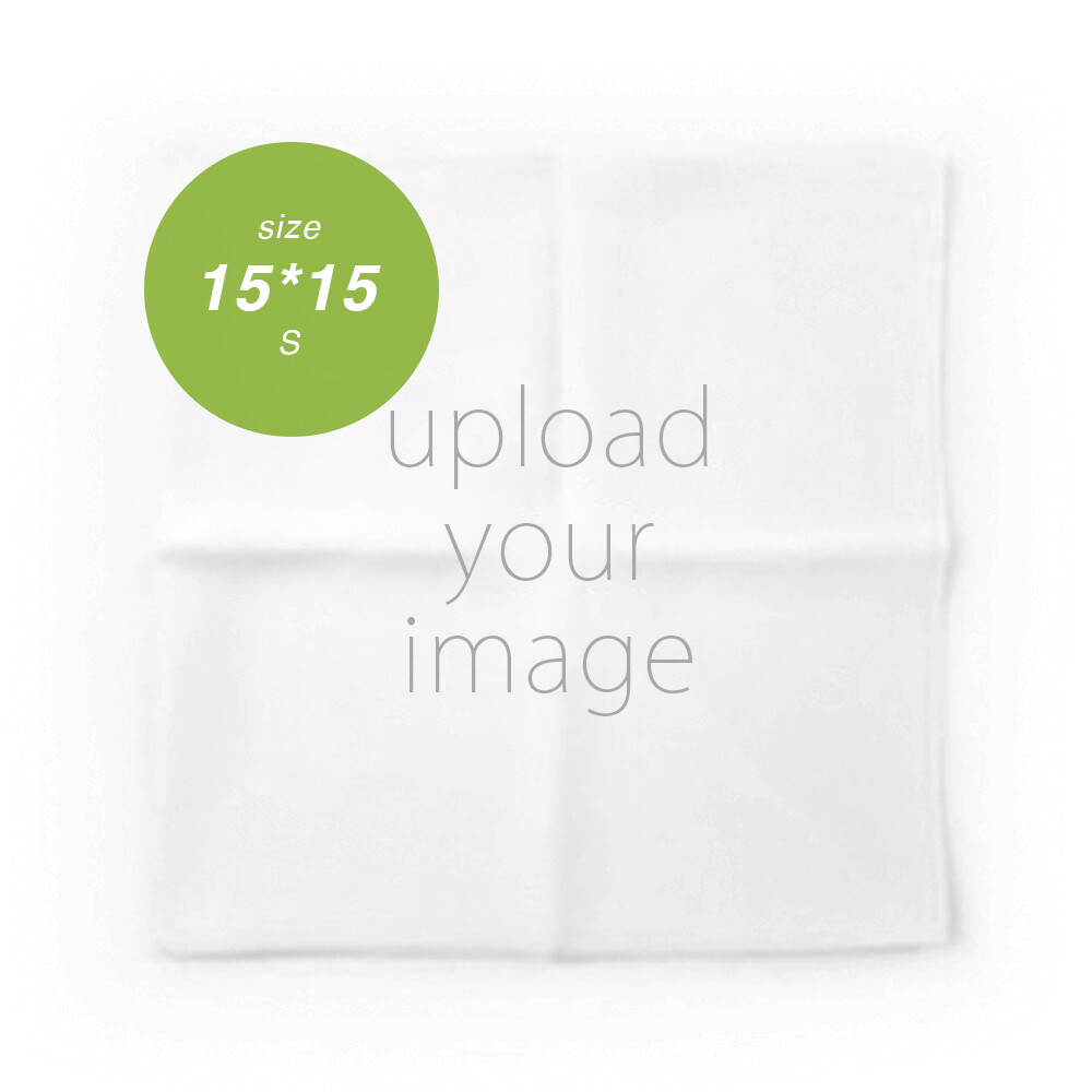 客製 滿版 印花 手帕 15*15 Handkerchief