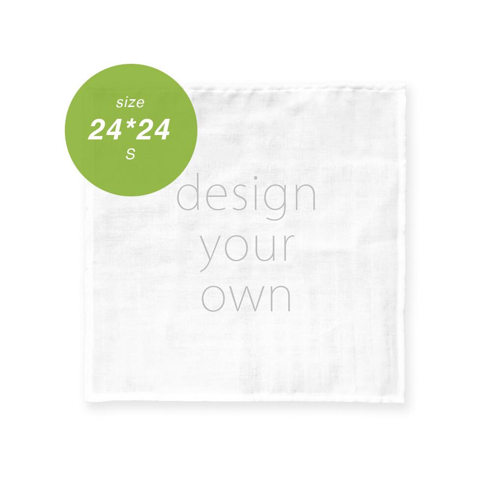 客製 滿版 印花 純棉 手帕 24*24 Cotton Handkerchief