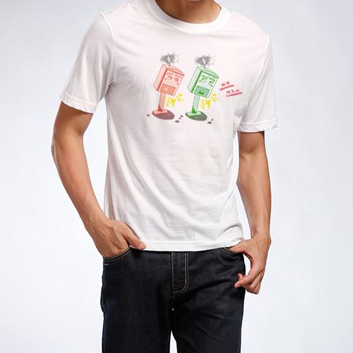 [跟著郵筒動資動資]  直筒中性版T-shirt