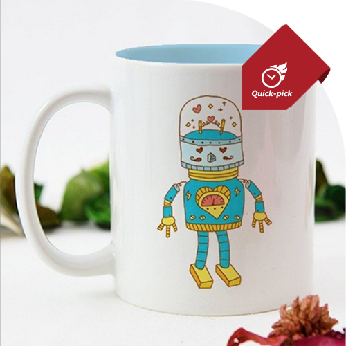 機器人情人對杯(藍)