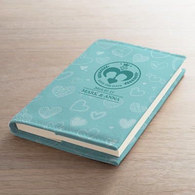 [日記情人節] 時尚藍色W-F®布書衣筆記本