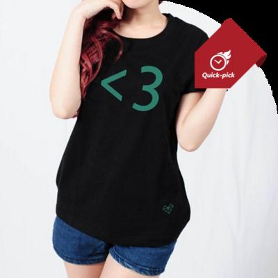 <3 短T-黑