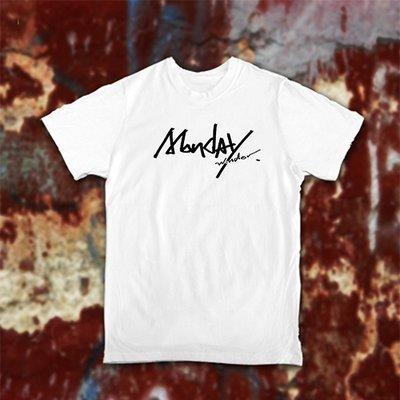 低調黑白Monday白/灰/黑T-shirt