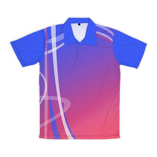 [設計圖樣] 不規則曲線 (粉藍漸層)