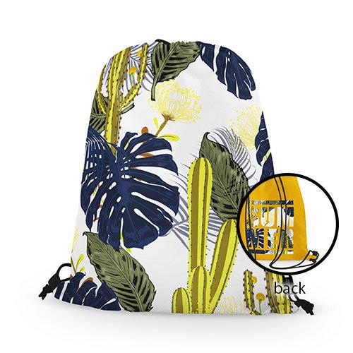熱帶植物Tropical輕便版束口後背包