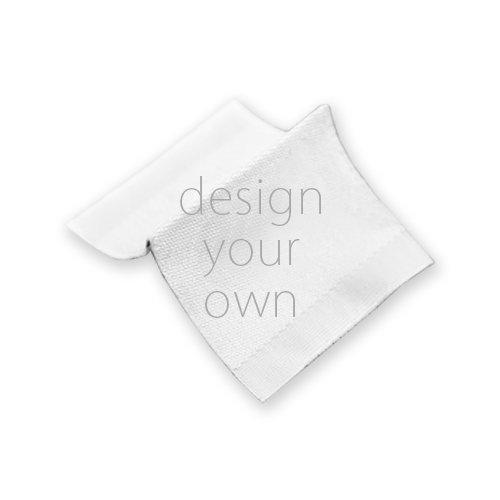 客製 印花 品牌 側標 單色印花 /黑底白or 白底黑 Brand Side Label