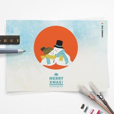 [設計圖樣][寒冬送暖-當我們融在一起] 聖誕 插畫 全品項 適用