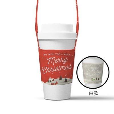 [設計圖樣] 下雪的城 斜口 飲料 提袋 (背縫) Snowy city drinks simple bag