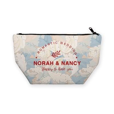 [設計圖樣] 時尚 羽毛 婚禮 化妝包 Feather Wedding Cosmetic bag