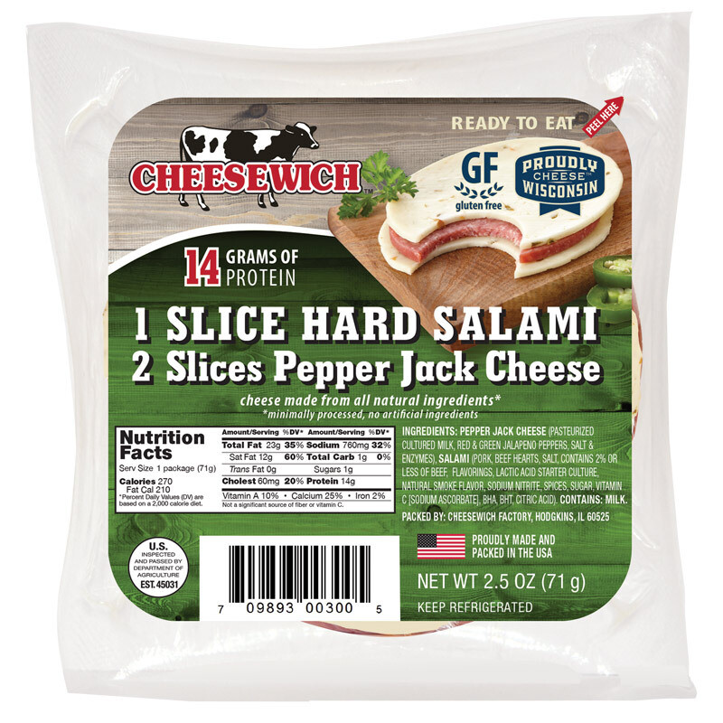 Pepper Jack & Hard Salami Cheesewich (16pk)
