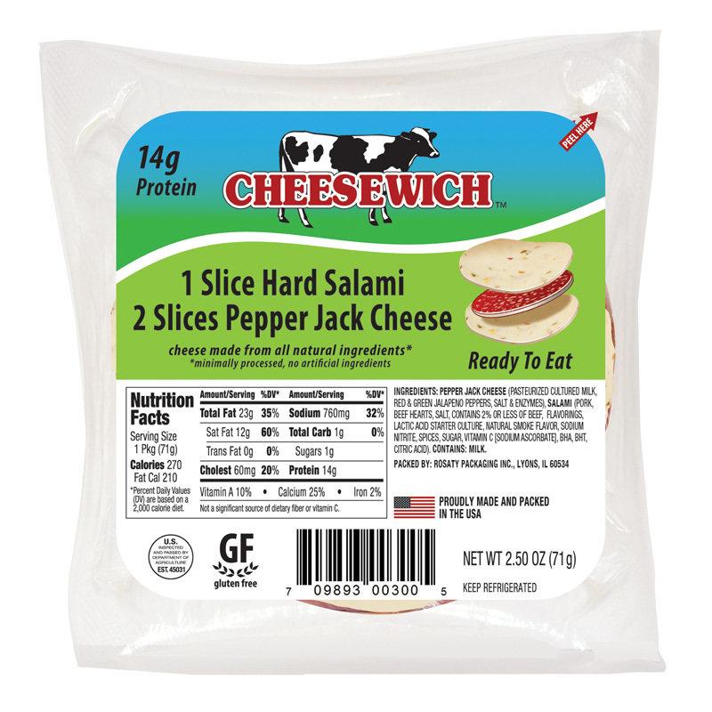 Pepper Jack & Hard Salami Cheesewich (24 Pack)