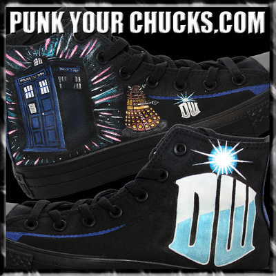 2540711597cc Doctor Who Custom Converse Sneakers