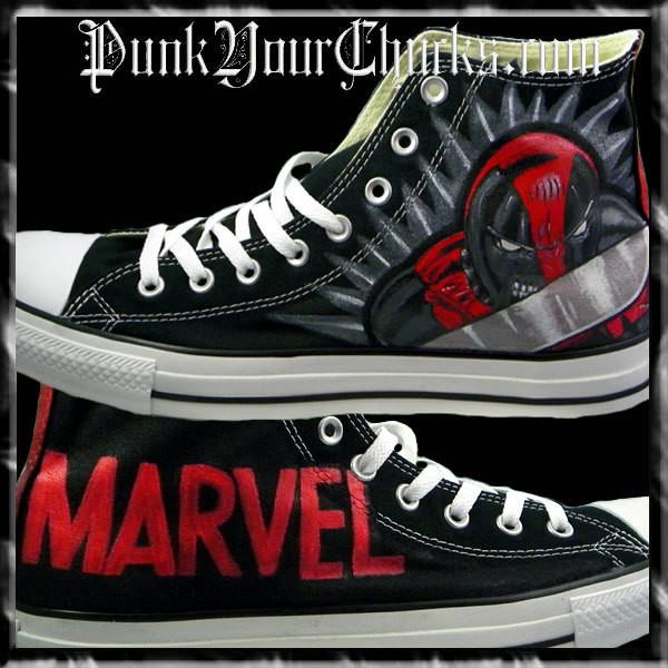 f3eff5f75a4e Deadpool 2 Custom Converse Sneakers