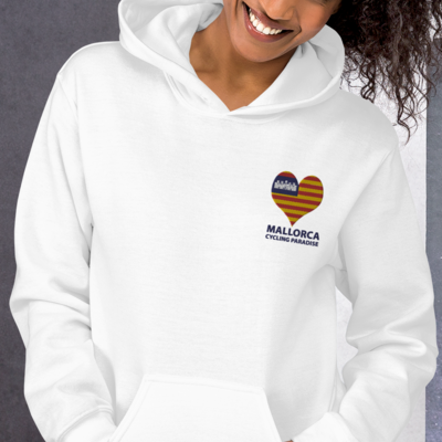 Unisex Hoodie with Love Mallorca Cycling Paradise Embroidery