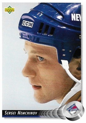 Nemchinov, Sergei / New York Rangers   Upper Deck #298   Hockey Trading Card   1992-93