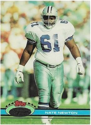Newton, Nate / Dallas Cowboys   Stadium Club #404   Football Trading Card   1991