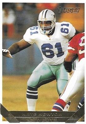 Newton, Nate / Dallas Cowboys   Topps Gold #302   Football Trading Card   1993