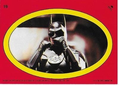 Batman / Batman - Oval | Topps #19 | Movie Trading Card | Sticker | 1989 | Michael Keaton
