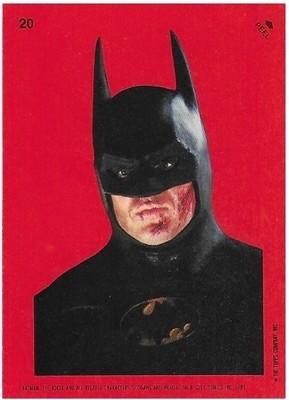 Batman / Batman - Closeup | Topps #20 | Movie Trading Card | Sticker | 1989 | Michael Keaton