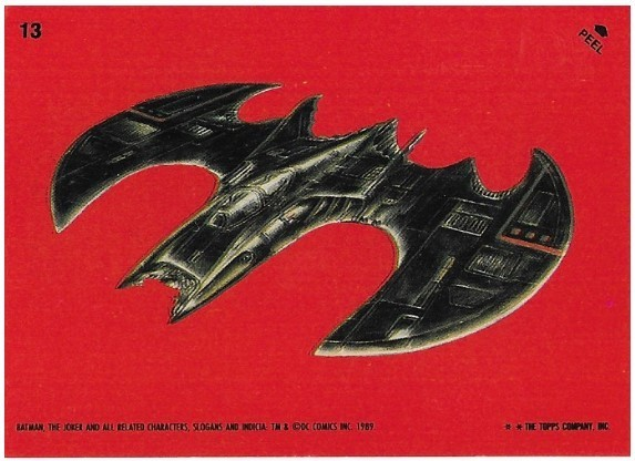 Batman / The Batwing - Angle View | Topps #13 | Movie Trading Card | Sticker | 1989