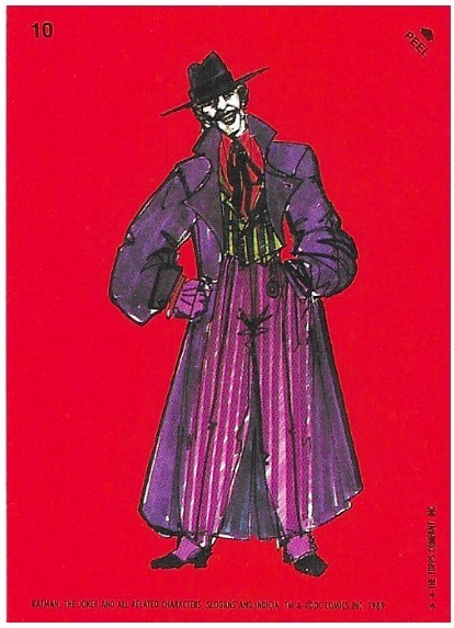 Batman / The Joker - Artwork | Topps #10 | Movie Trading Card | Sticker | 1989