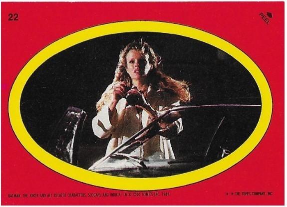 Batman / Vicki Vale - Oval | Topps #22 | Movie Trading Card | Sticker | 1989 | Kim Basinger