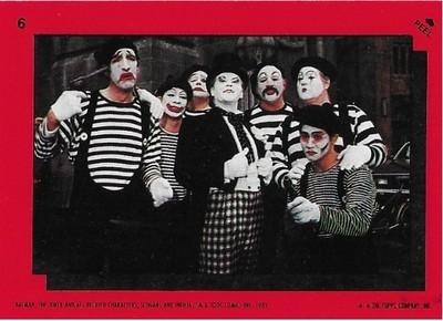 Batman / The Joker - Joker's Goons | Topps #6 | Movie Trading Card | Sticker | 1989 | Jack Nicholson